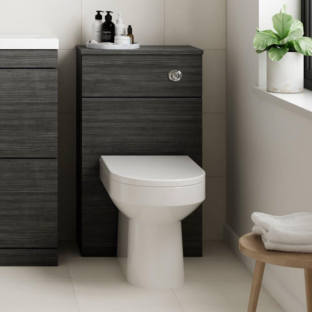 Emily 8mm Back to Wall Toilet Unit - Hacienda Black  Back to