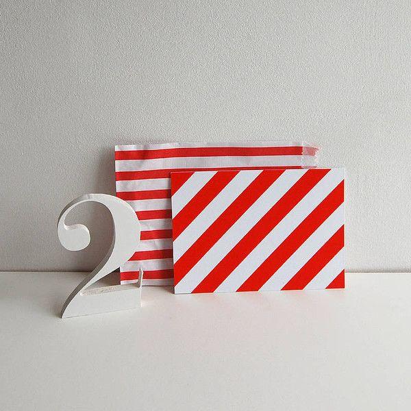 Striped Delight Postcard — Polar