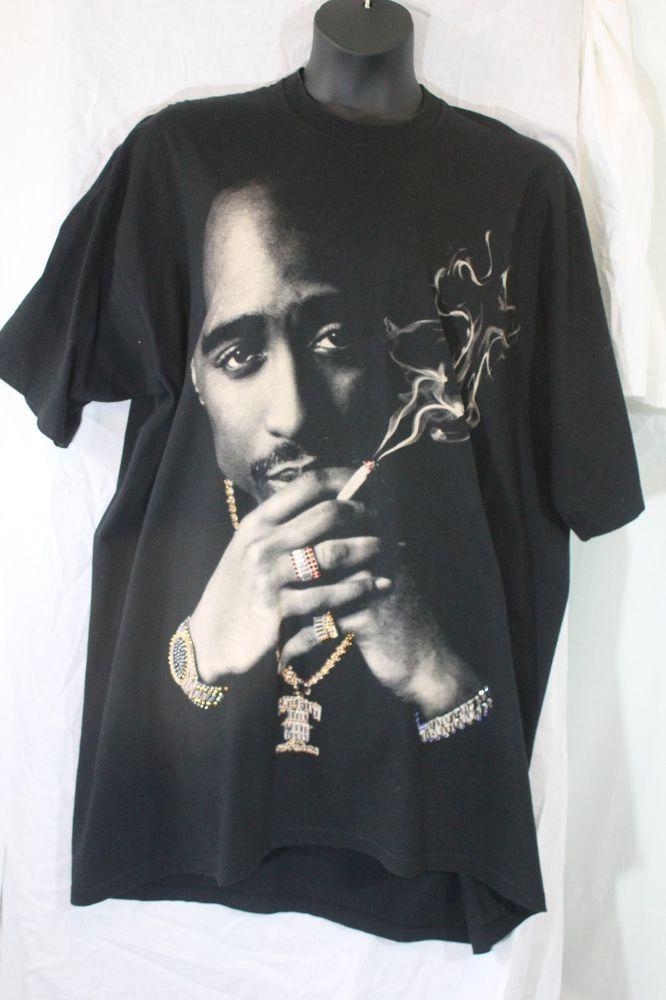 fea11ea4c Black Tupac Unisex Plus Size T-Shirt, Size 4XL-Tall by Mob #Mode ...