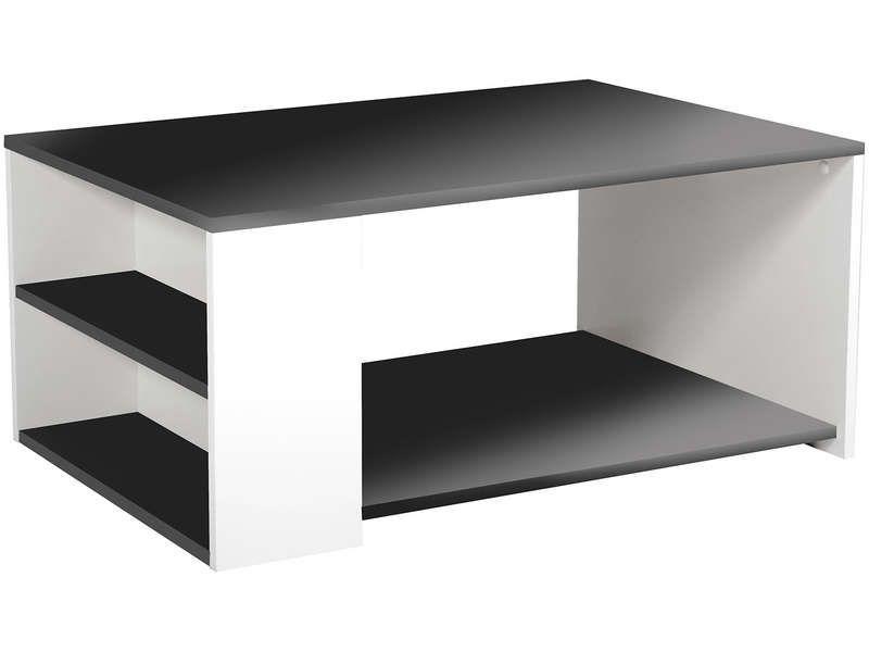 Table Basse 1 Grande Niche 2 Niches Cote Leader Coloris Noir Blanc Vente De Table Basse Confora Table Basse Table Basse Conforama Table Basse Rectangulaire