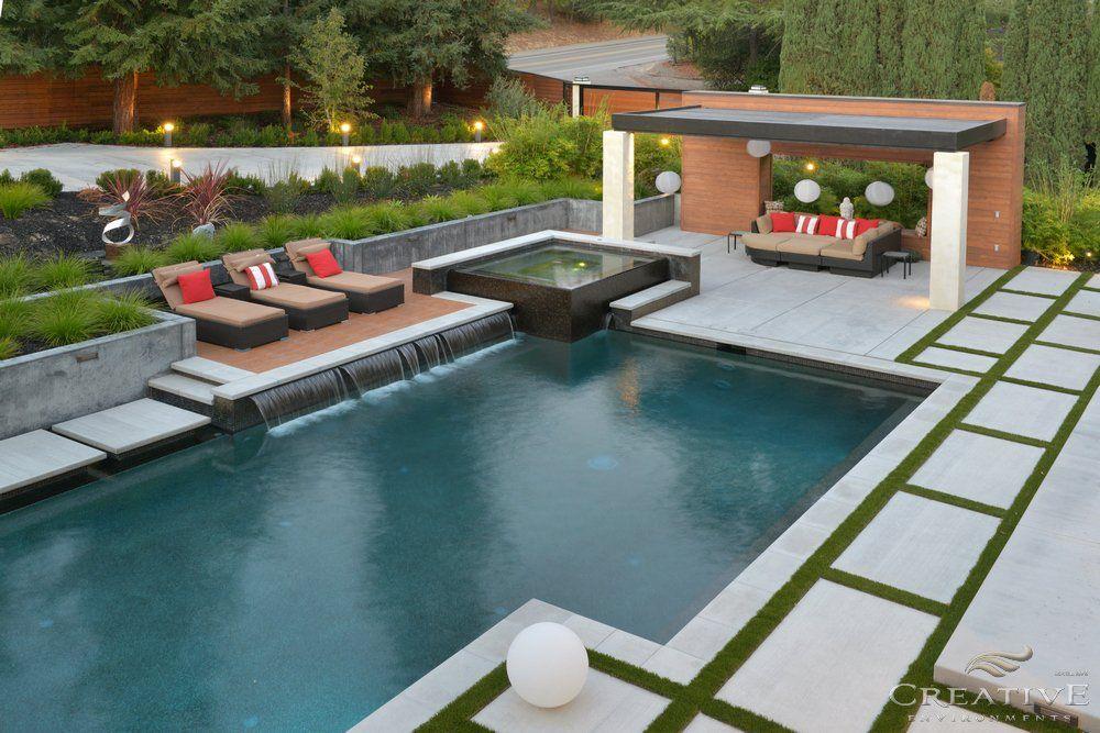 Creative Environments Photos Pool Houses Backyard Pool Landscaping Modern Pools