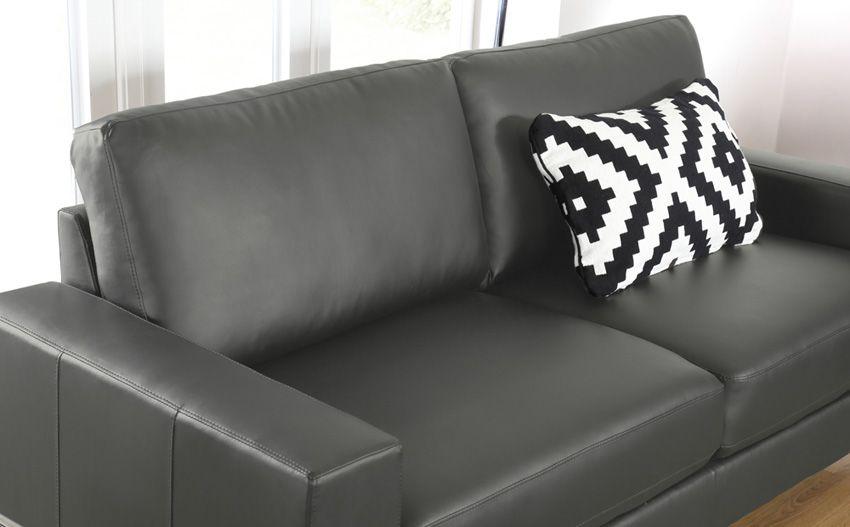 Baltimore 3 Seater Leather Sofa Grey 3 Seater Leather Sofa Sofa Gray Sofa