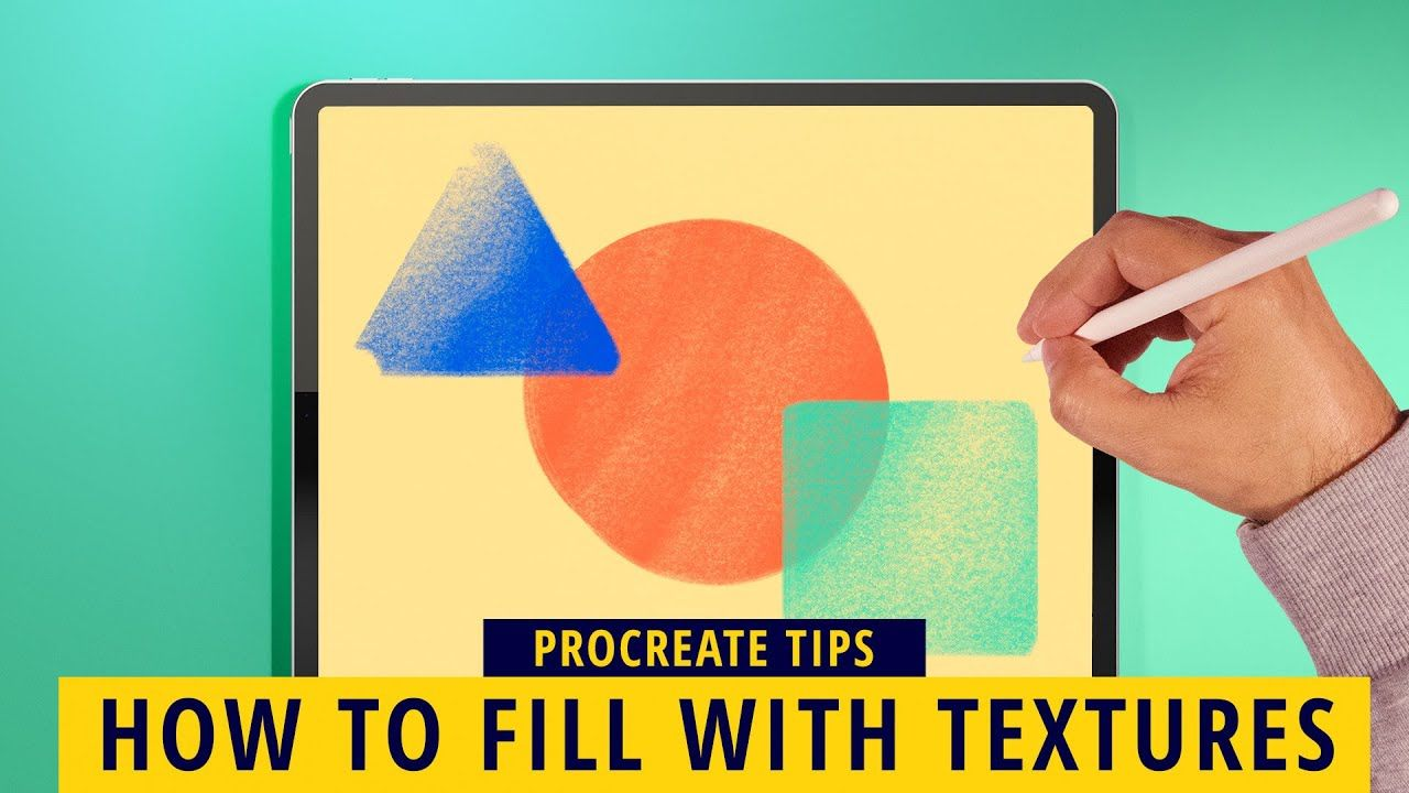 How To Fill Shapes Quickly With Texture And Color Procreate Tips In 2020 Procreate Tips Ipad Drawings