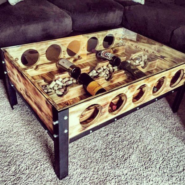 Wine Holder Coffee Table