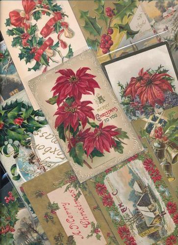 Beautiful Lot of 20 Vintage Christmas Postcards Antique GGG401 | eBay