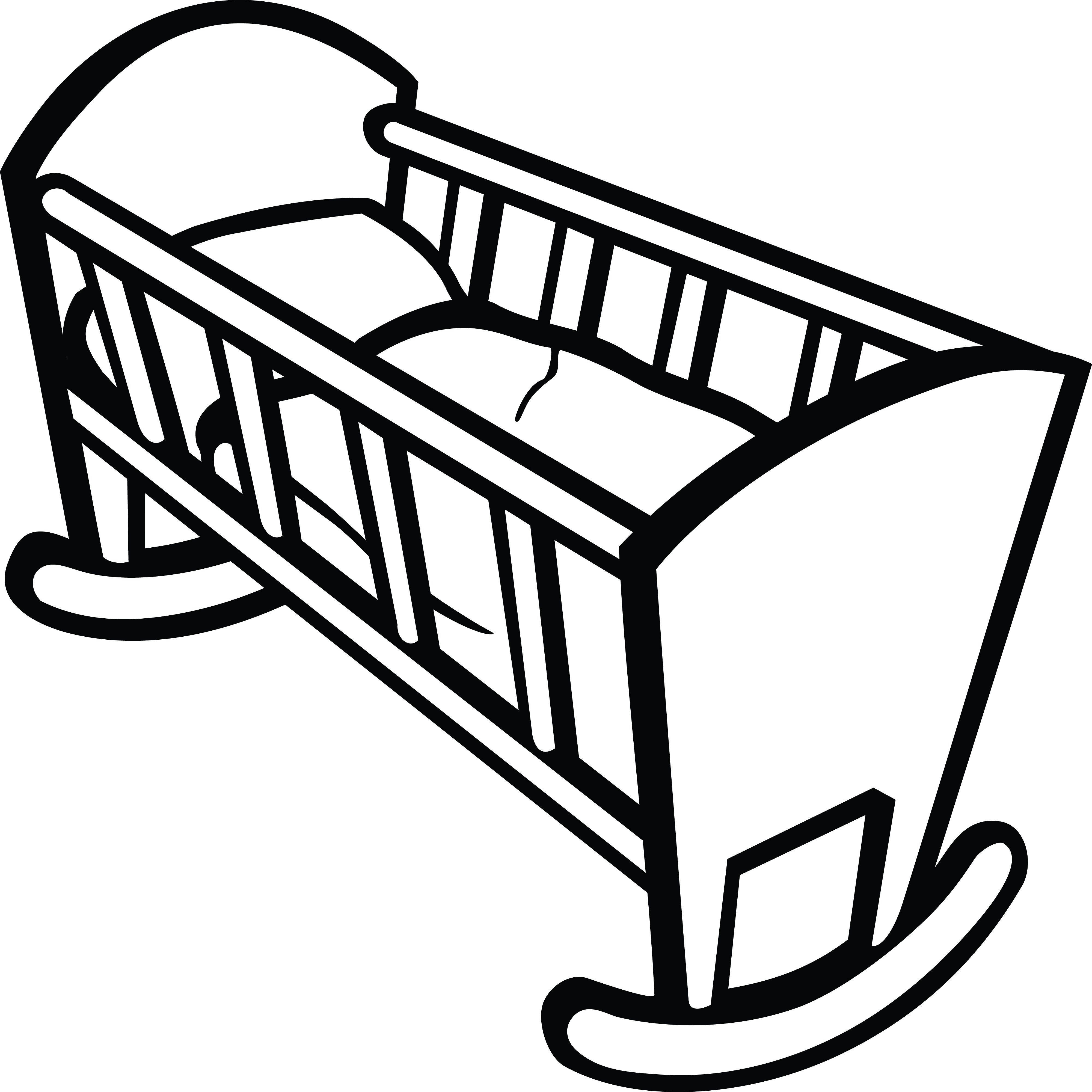 Clipart Of A Baby Crib