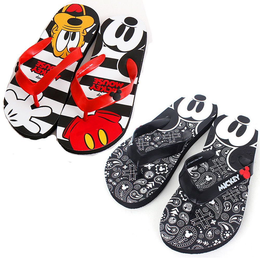 43b7eb5cd7c35 Disney Mickey Mouse Slippers Adult Beach Shoes Slip-on Summer Unisex Cute  Casual  Vsol  Slippers