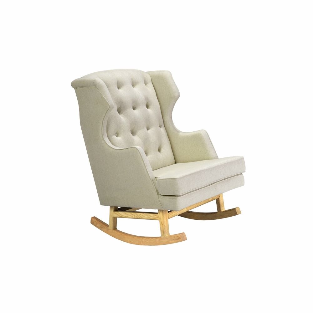 love this chair nursery works  empire rocker  oatmeal weave  - nursery works  empire rocker  oatmeal weave fabric with light legs