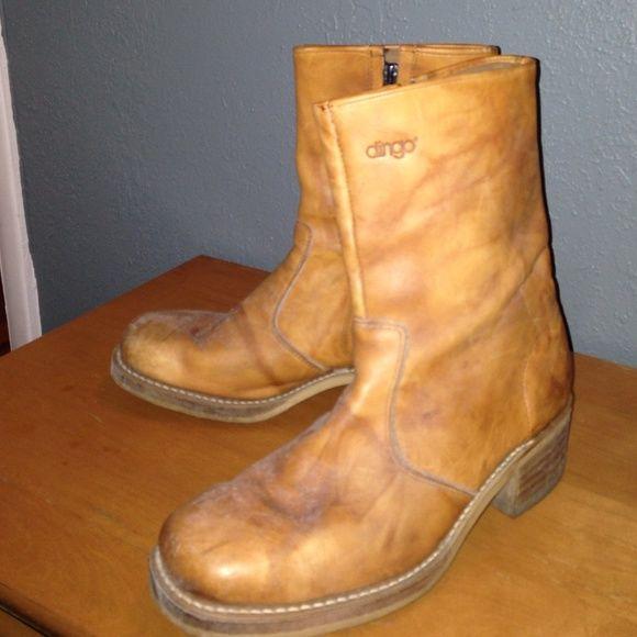 Vintage Dingo Boots Authentic Vintage Dingo Boots, leather size 9. Some visible wear, but still very wearable. dingo Shoes