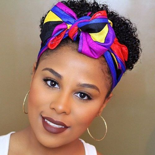 20 Gorgeous Bandana Hairstyles For Cool Girls Short Natural Hair Styles Scarf Hairstyles Natural Hair Styles