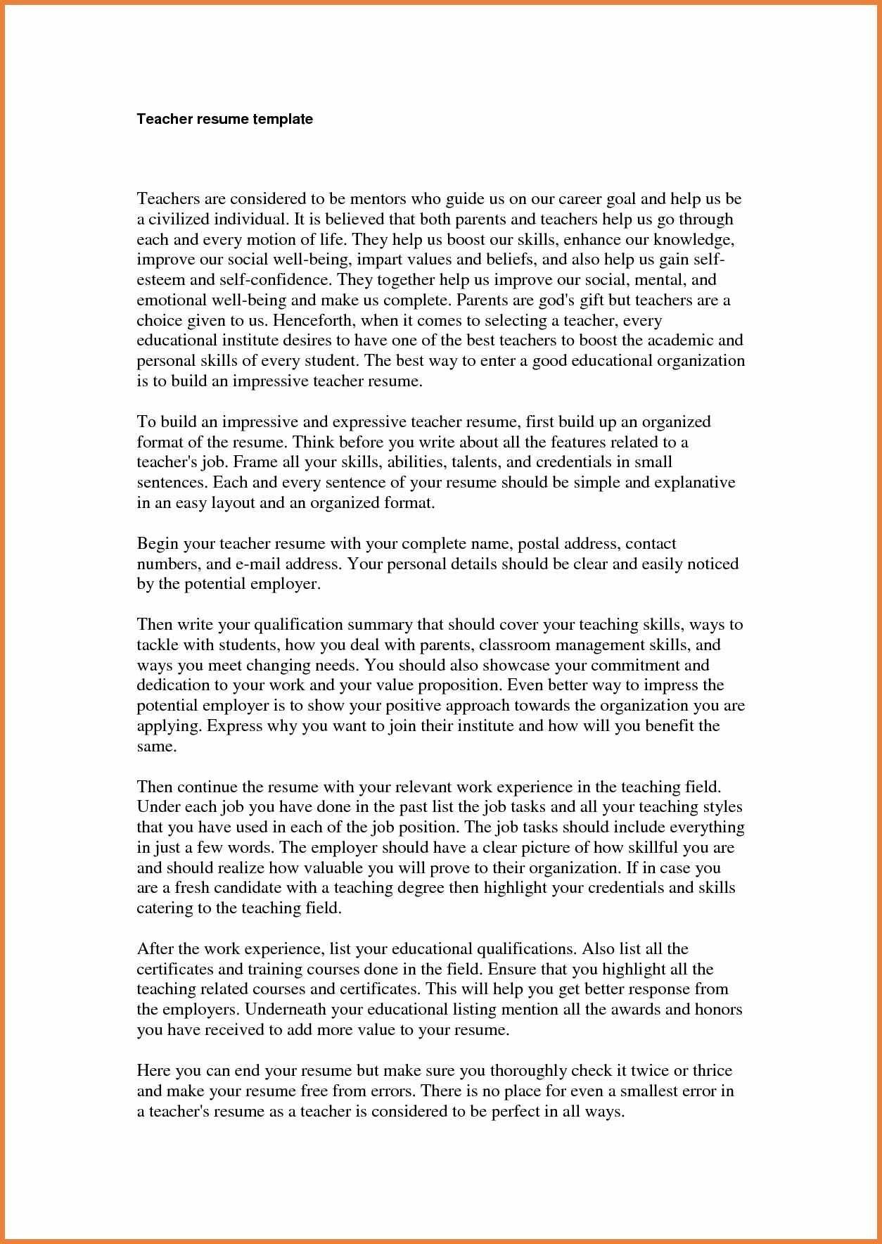 teacher resume objective sop proposal cover letter teaching