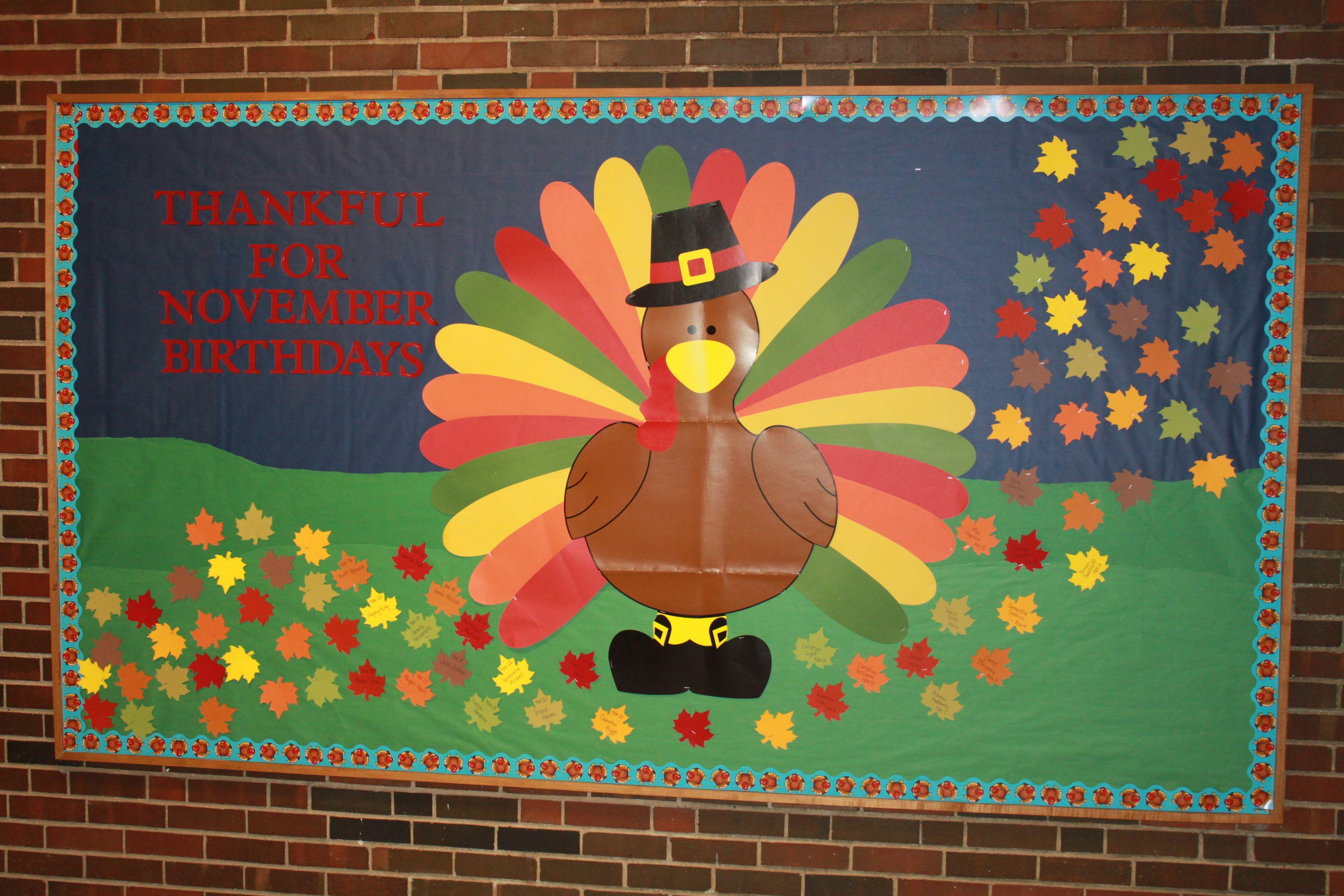 November Bulletin Board Boards Holiday Activities Library Inspiration