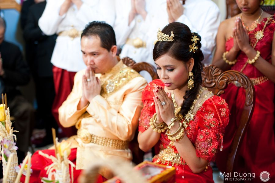 Vietnamese and cambodian wedding pictures