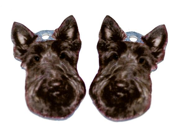 Scottish Terrier Earring Components Made Of By Giftbearersupply 3 75 Scottish Terrier Terrier Scottish