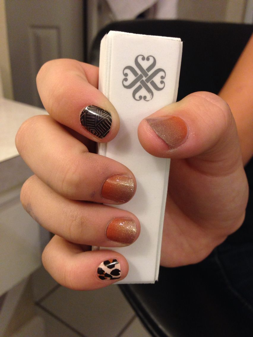 Rachel\'s 1st Jamberry nail wrap design! I was like WOW! Every finger ...