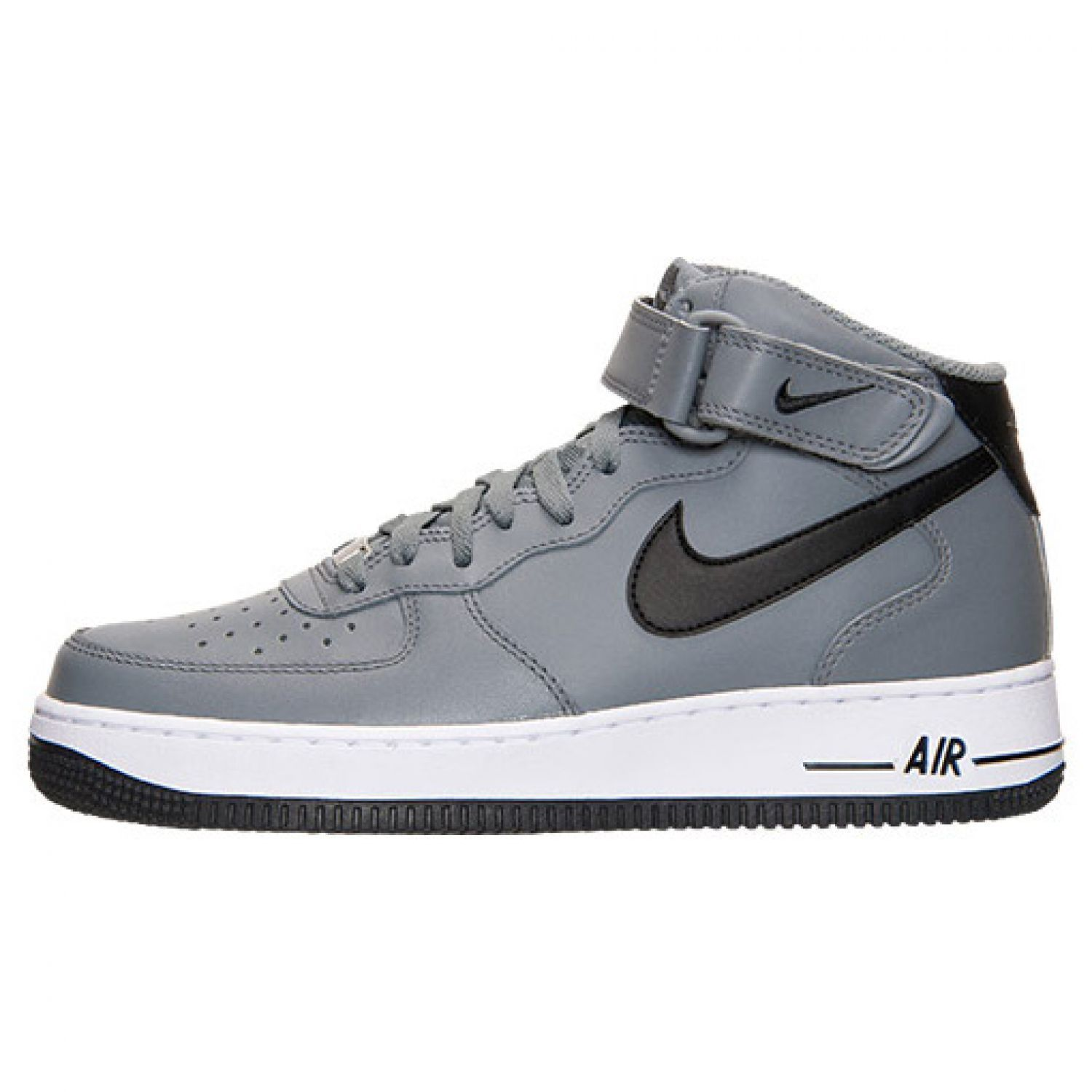 MEN'S NIKE AIR FORCE ONE 1 '07 MID SHOES SIZE 12 Grey Black White 315123-026