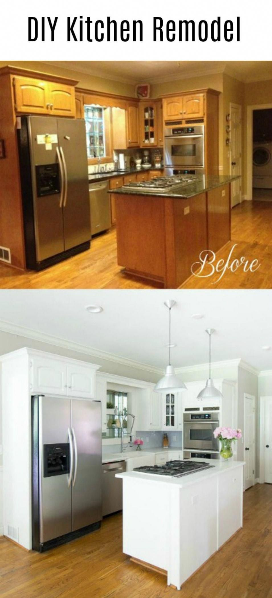 Diy Kitchen Remodel Reveal We Updated Our 90 S Kitchen And Turned It Into A Beautiful And Br Diy Kitchen Remodel Kitchen Remodel Plans Kitchen Cabinet Remodel