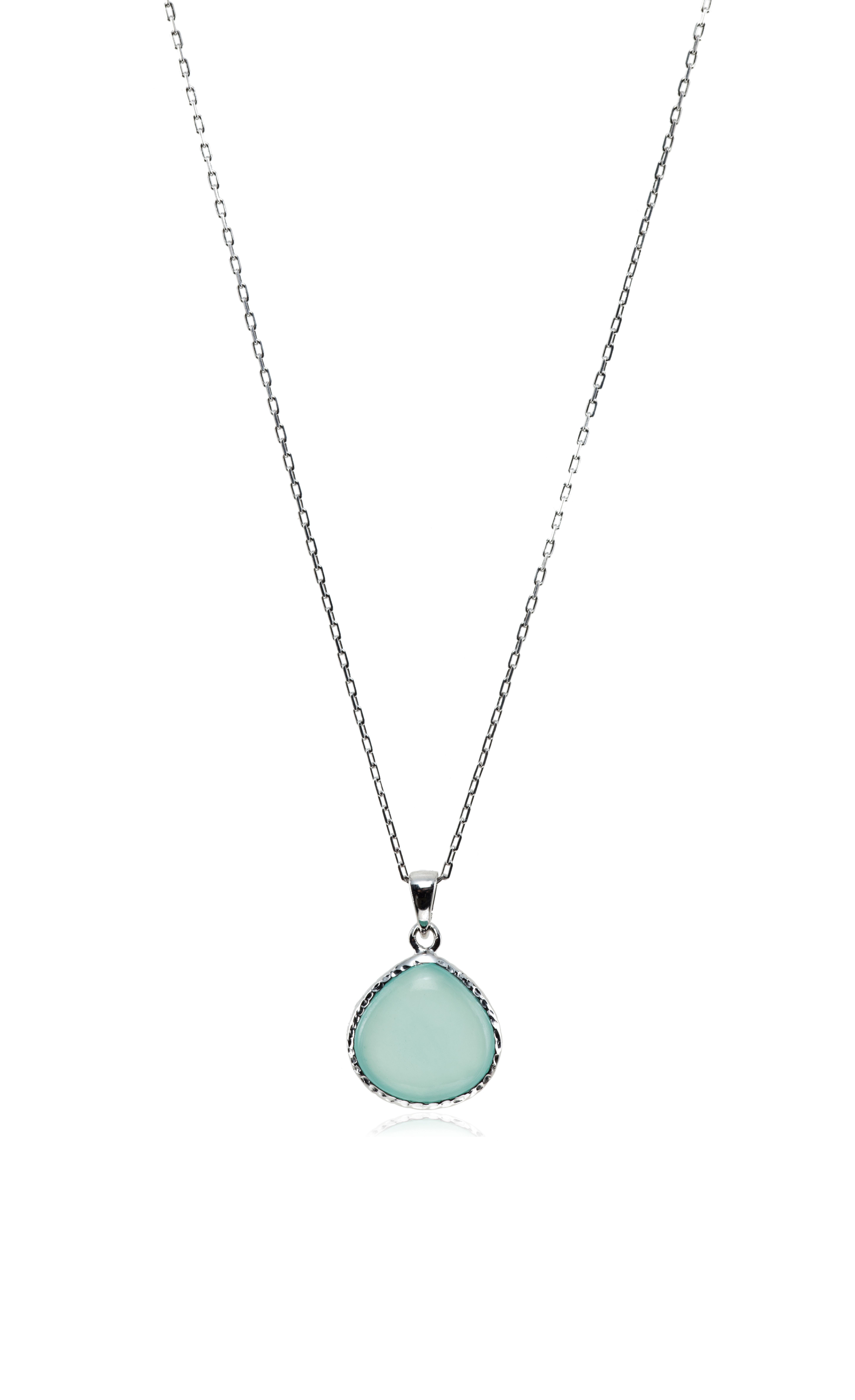 products pale chalcedony pendant cord wanderlust life fine necklace blue