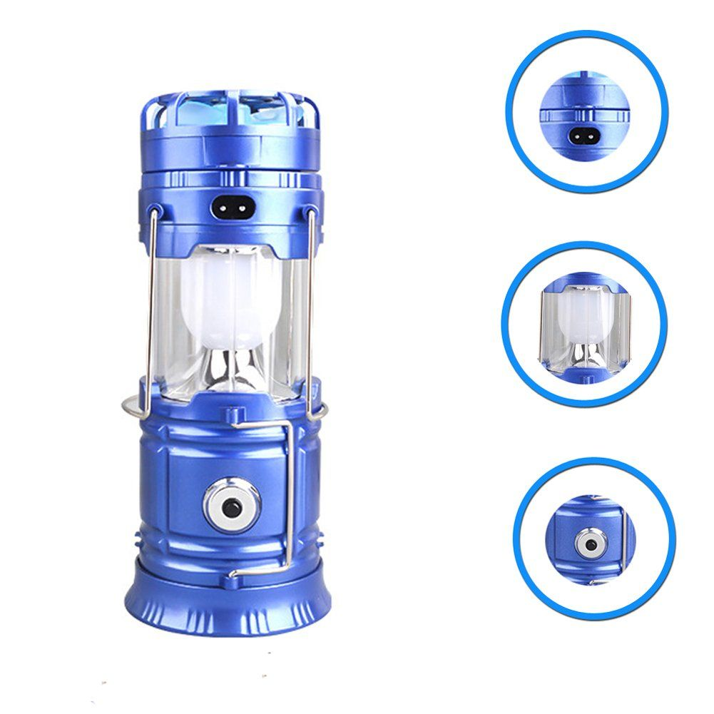 KICCOLY Lantern Flashlights Solar Power Camping Light Telescopic Rechargeable Emergency Led Camping Lamp Outdoor Light with Fan