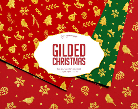 Christmas Digital Paper \