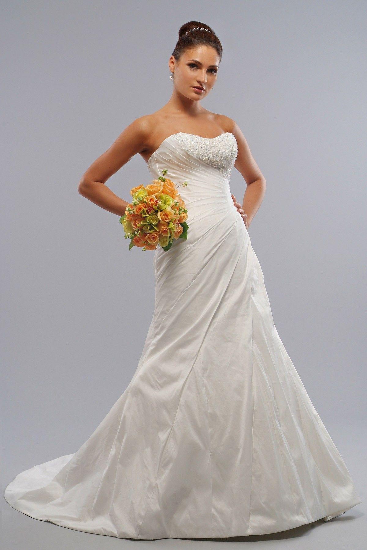 Taffeta Strapless Sweetheart Corset Bodice Aline Wedding