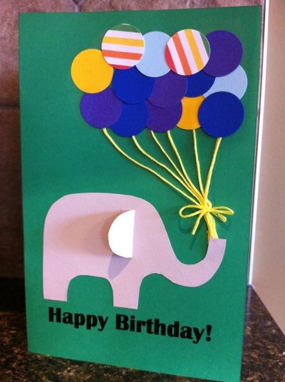 Paper Punch Balloon Birthday Card My Kid Craft Greeting Cards