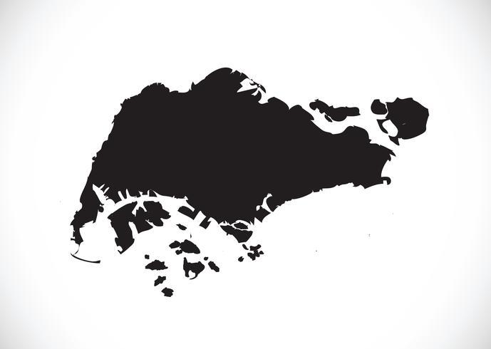 Singapore Map Symbol Sign In 2021 Singapore Map Map Symbols Illustrated Map