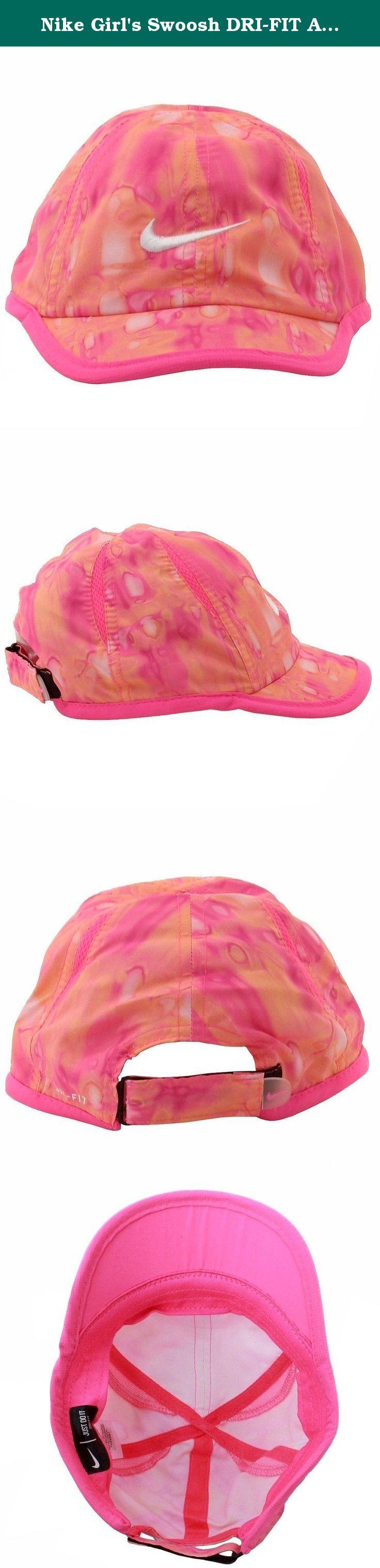 29a3ed1fd Nike Girl's Swoosh DRI-FIT Adjustable Baseball Cap 4/6X Lava Glow ...