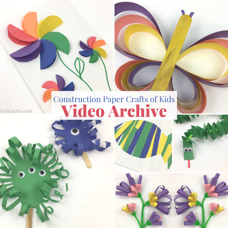 Construction Paper 3d Tree Video Day Camps Pinterest