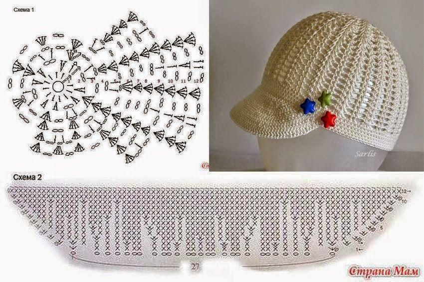 5 diseños de gorros super lindos al crochet   Crochet y Dos agujas ...