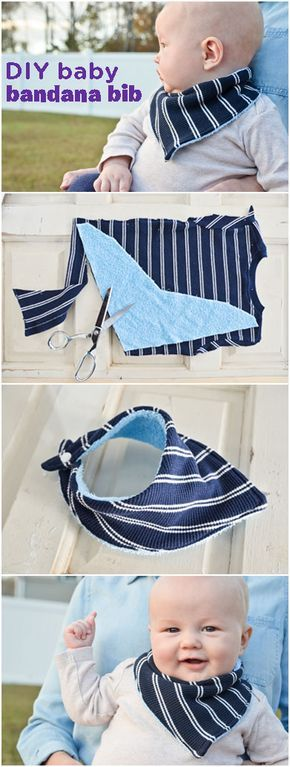 DIY : How to Sew a Bandana Bib - Project Nursery #bibsforbaby