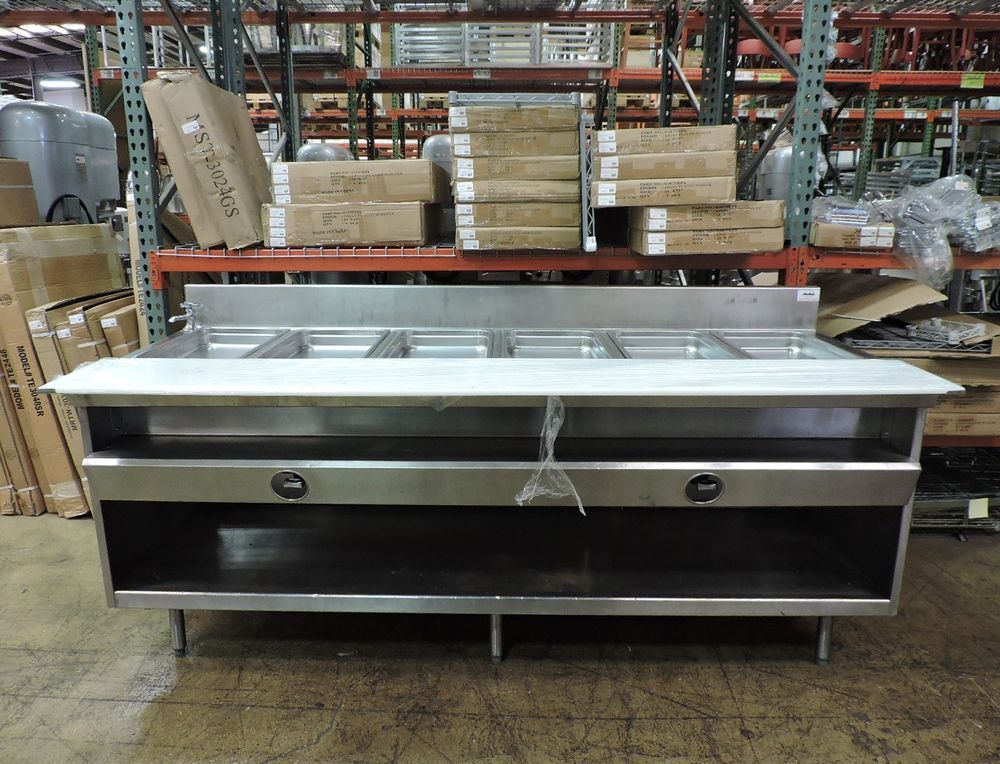Details About Randell Commercial Gas 6 Pan Steam Table Restaurant Equipment Home Decor Commercial