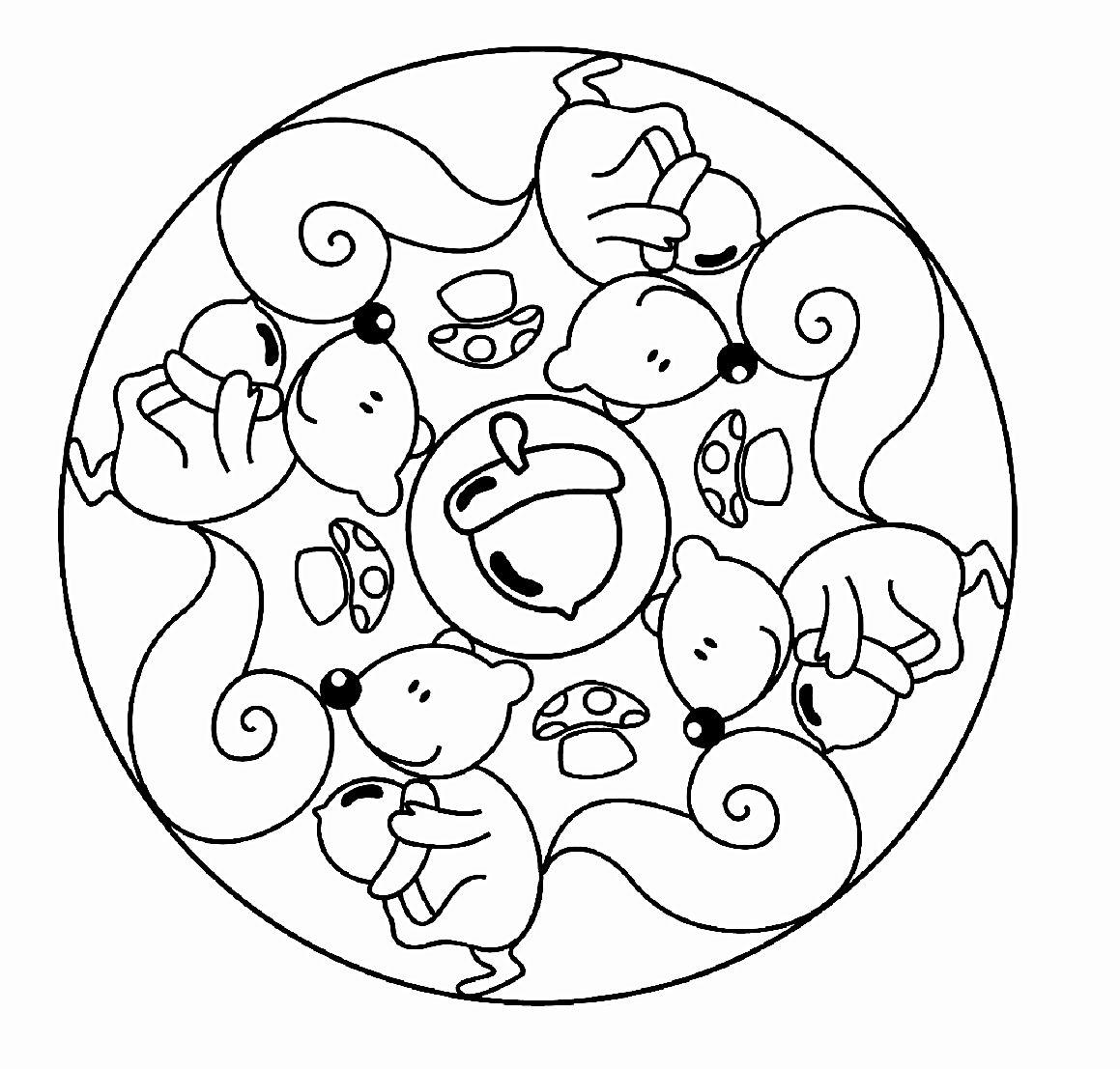 Herbst Ausmalbilder Igel : Mandala 282 Mandala Pinterest Ausmalbilder Herbst