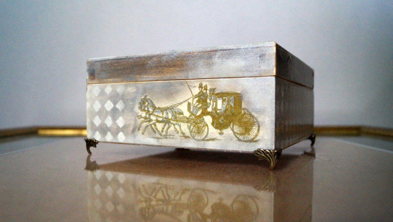 Treasury box, traveler box, Jewelry Storage Box,  Wedding Wishes Box, Traveler chest, Decoupage Box,  wooden box, home decor by Malikdesign on Etsy