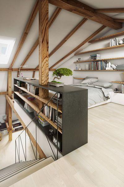 10 jolies chambres aménagées sous les combles | idee maison ...