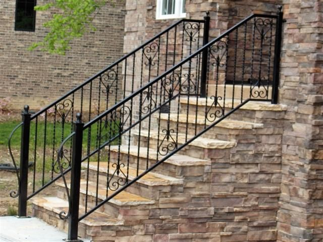 Best Decorative Iron Handrails Larger Picture Wrought Iron 640 x 480