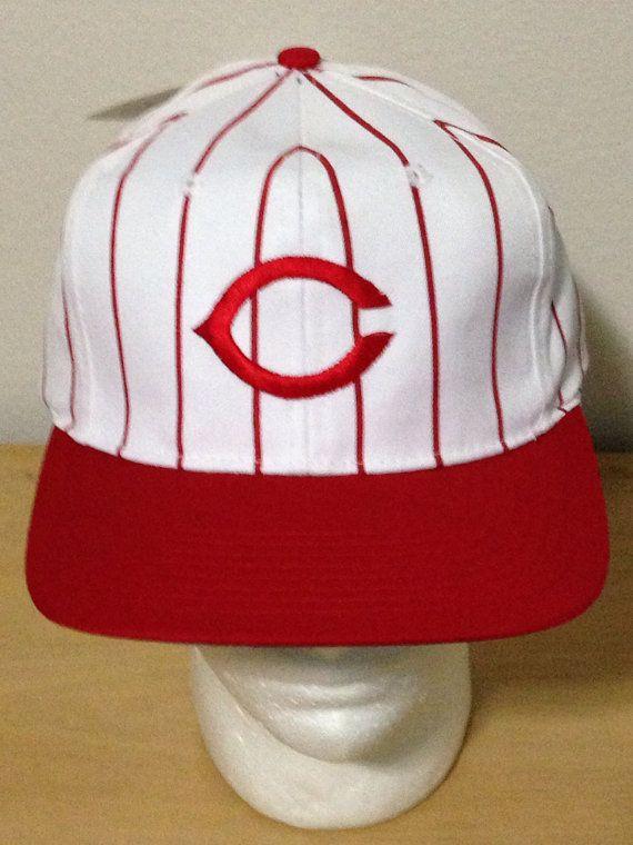 Cincinnati Red Competitors Major League Baseball Pin Stripes Cap Hat on Etsy, $45.00