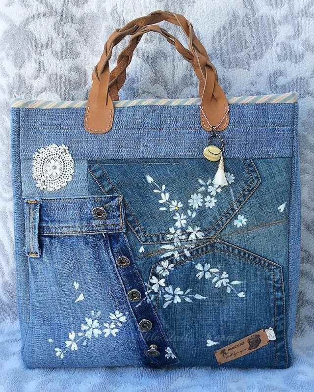 comment faire un sac en jean patrons gratuits tutos et id es de d co crochet tricot and. Black Bedroom Furniture Sets. Home Design Ideas