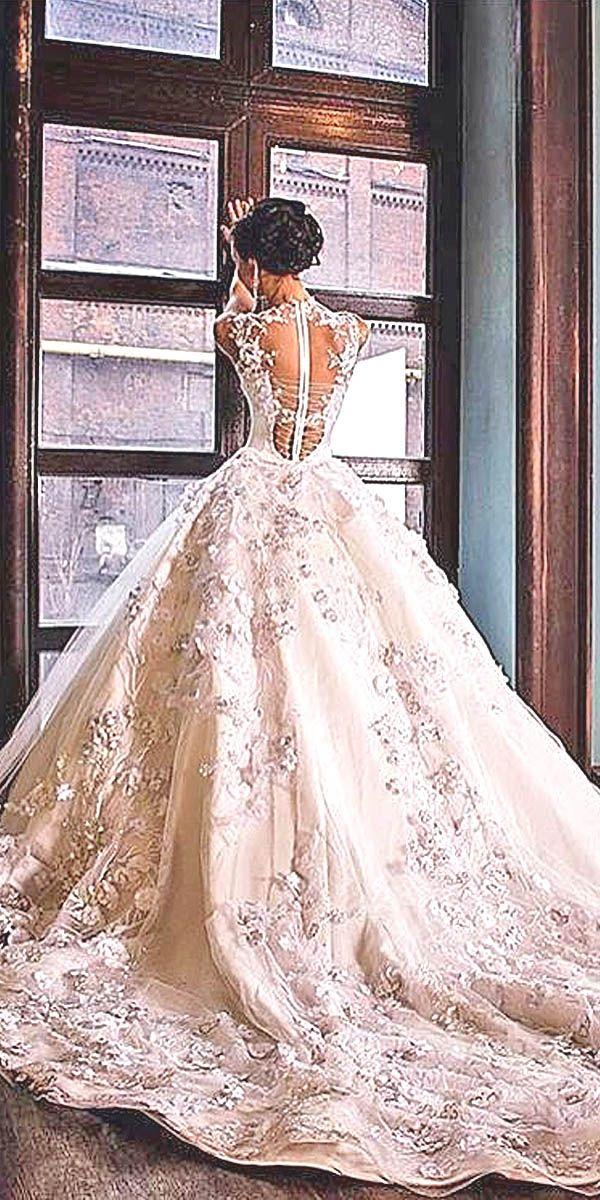 Ball Gown Wedding Dresses Via Malyarovaolga Instagram