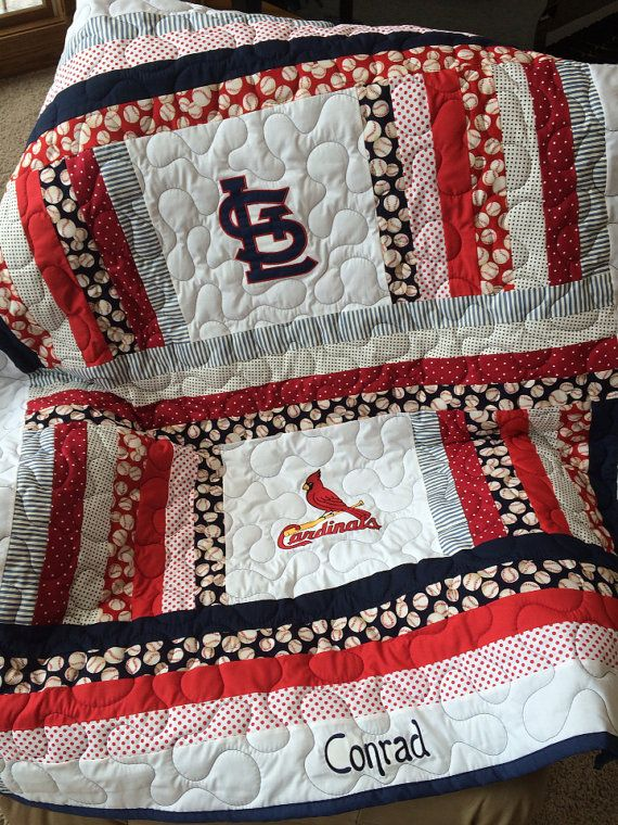 St Louis Cardinals Baby Quilt Baby Quilts Quilts Etsy Baby