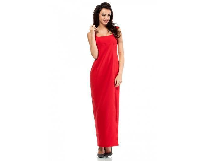 Clea Formelles Kleid langes Kleid Maxi-Kleid Maxikleid ,Farbe: Rot ...