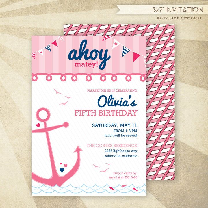 Custom Nautical Birthday