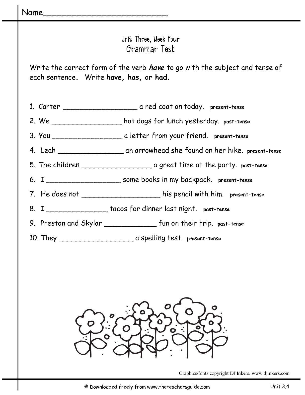 Noun Verb Agreement Worksheet   Printable Worksheets and Activities for  Teachers [ 1584 x 1224 Pixel ]