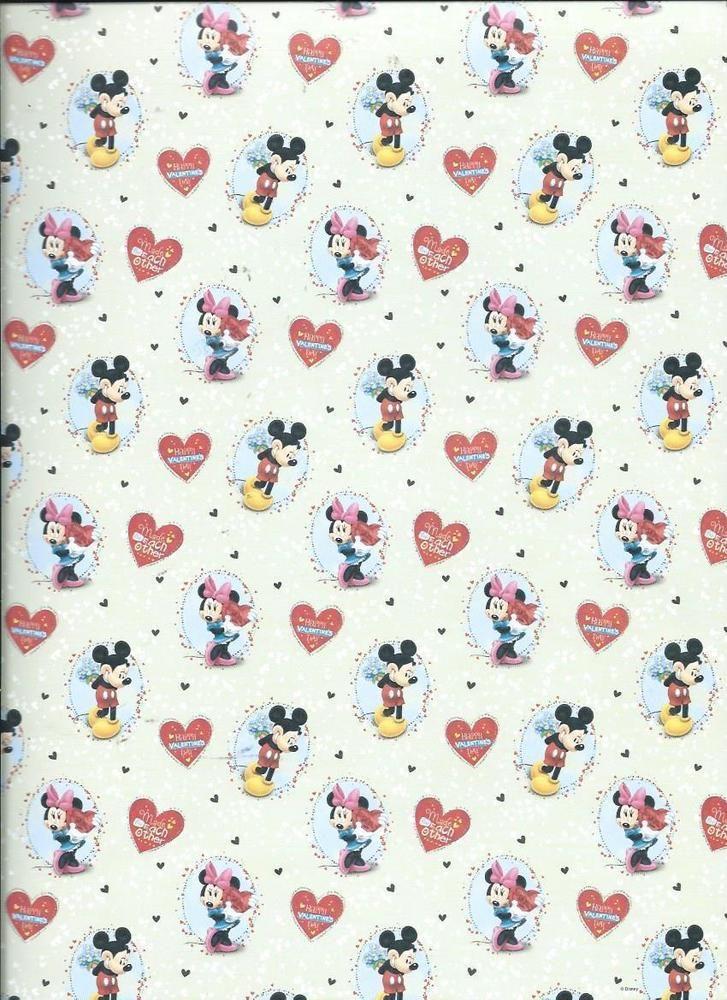 Disney Mickey And Minnie Valentines Coordinating 12 X 12 Scrapbook