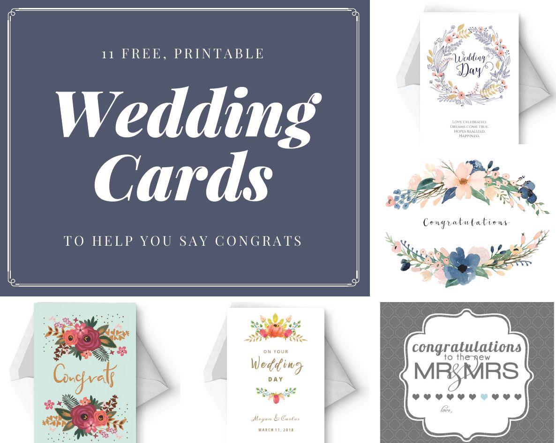 Say Congrats With A Free Printable Wedding Card Wedding Gift Tags Printable Wedding Congratulations Card Wedding Cards
