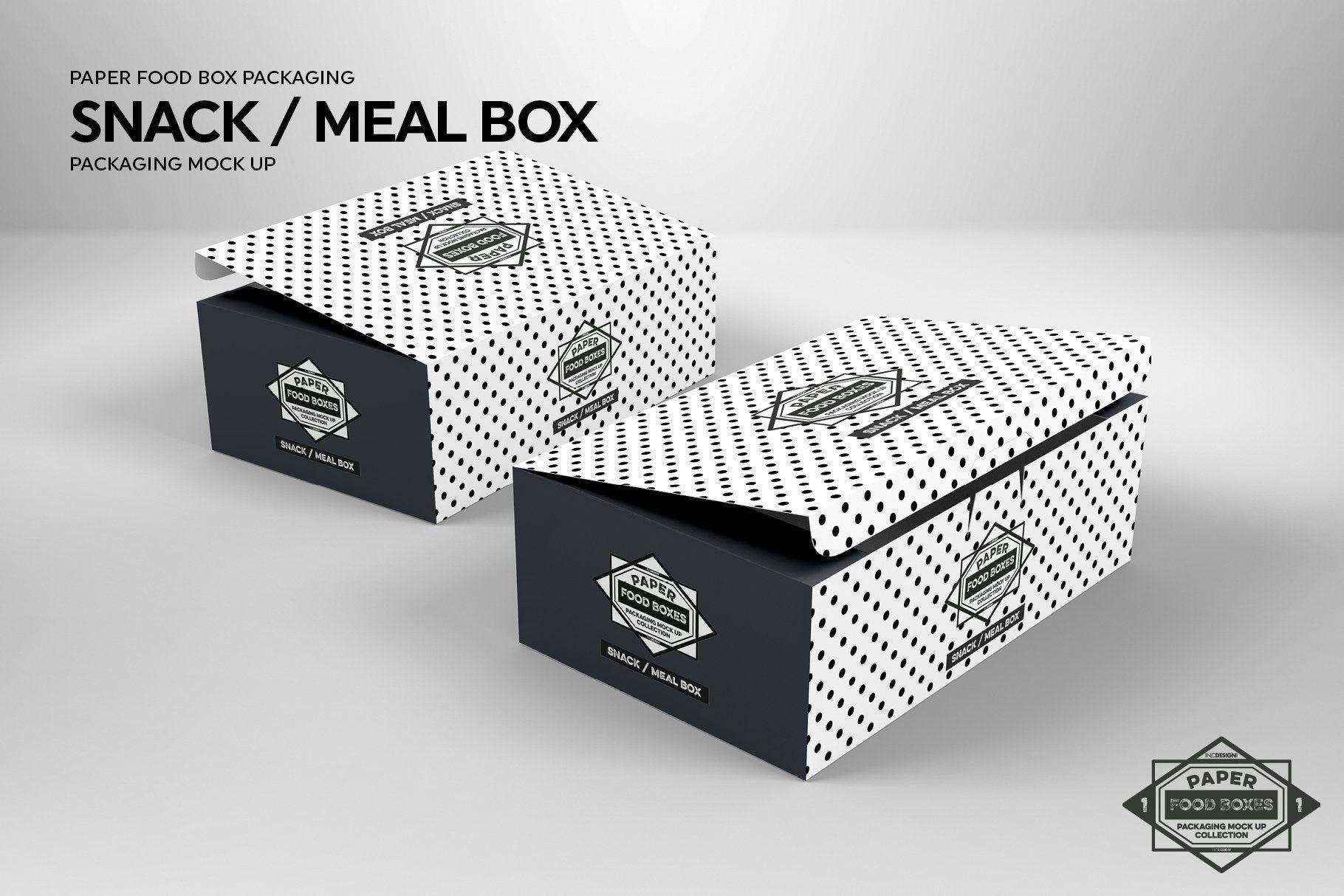 Download Meal Snack Food Box Packaging Mockup Food Box Packaging Packaging Mockup Recipe Box