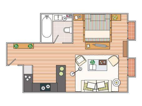 Achados de decora o blog de decora o quitinete for 35m2 apartment design