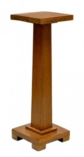 stands tall stand plant pedestal wooden