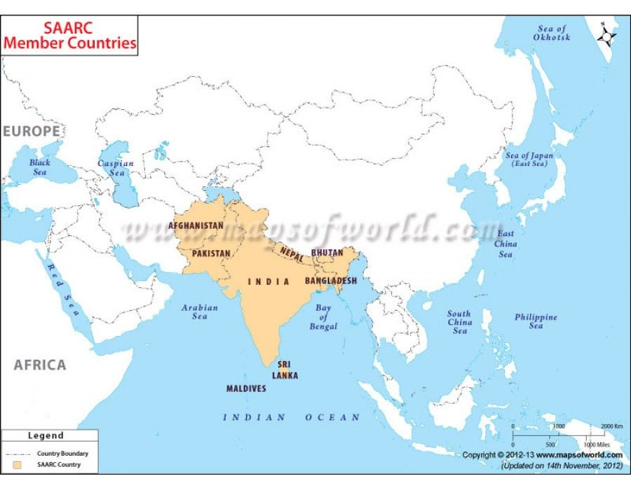 Buy SAARC Countries Map Online Human History Pinterest Country - best of locate places on world map game