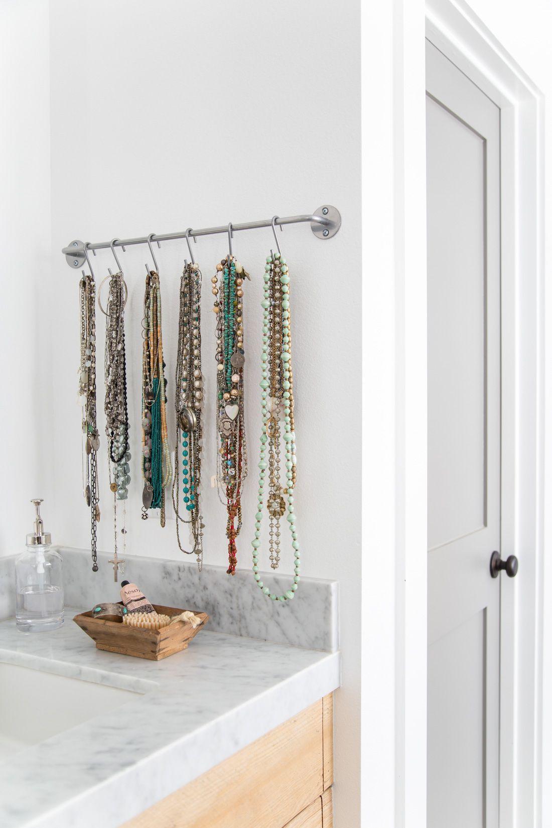 IKEA BYGEL bar hooks for necklaces jewelry organizer Organize